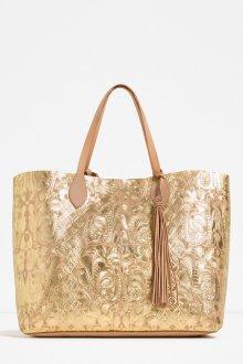 Золотая сумка фактурная