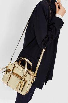 Золотая сумка из кожи