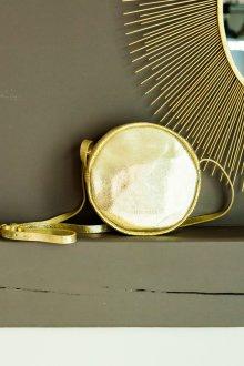 Золотая сумка круглая