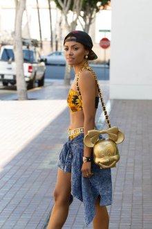 Золотая сумка оригинальная