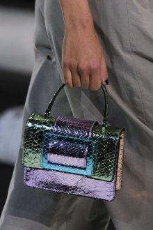 Золотая сумка разноцветная
