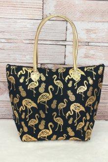Золотая сумка с рисунком