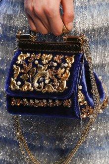 Золотая сумка велюровая