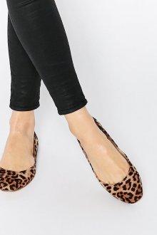 Кожаные балетки леопардовые