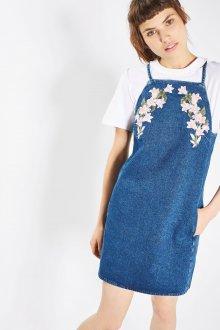 Джинсовый сарафан с цветами