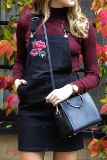 Джинсовый сарафан с розами