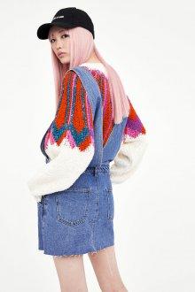 Джинсовый сарафан со свитером