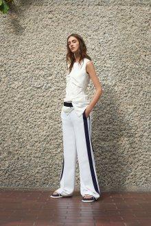 Белые женские брюки с черным