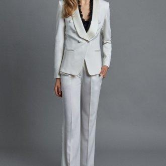 Белые женские брюки классические