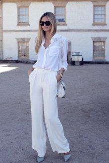 Белые женские брюки деловые