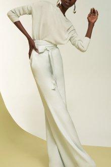 Белые женские брюки гладкие
