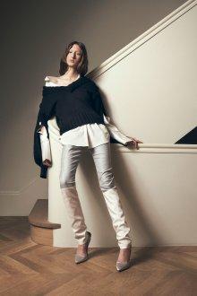 Белые женские брюки комбинированные