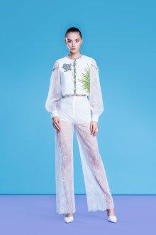 Белые женские брюки кружевные
