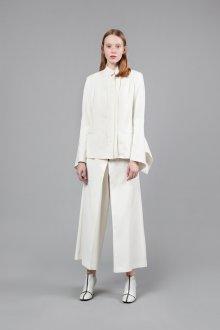 Белые женские брюки кюлоты