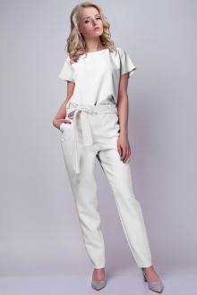 Белые женские брюки с бантом