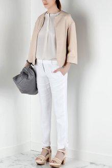 Белые женские брюки офисные