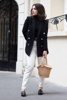 Белые женские брюки повседневные