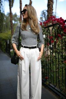 Белые женские брюки с поясом