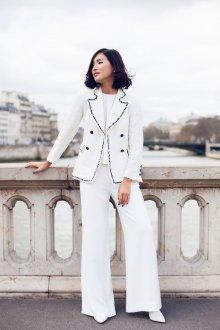 Белые женские брюки клеш