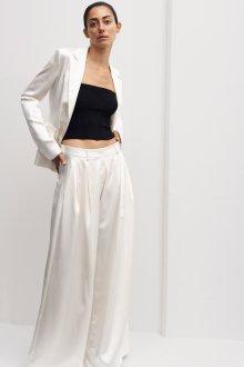 Белые женские брюки шелковые