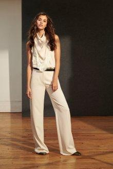 Белые женские брюки шифоновые