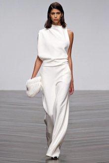 Белые женские брюки широкие длинные