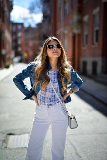 Белые женские брюки сочетание