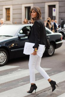 Белые женские брюки стрейч
