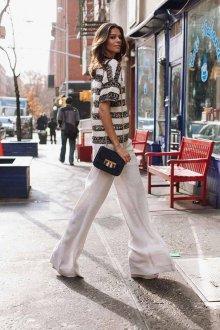 Белые женские брюки свободные