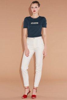 Белые женские брюки узкие