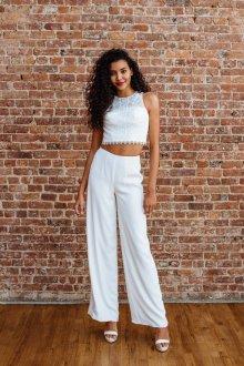 Белые женские брюки весенние