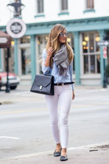 Белые женские брюки зауженные