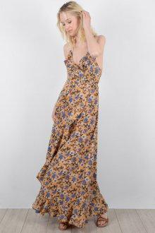 Платье на бретелях с цветами