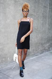 Платье на бретелях простое