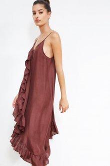 Платье на бретелях шелковое