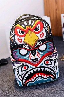 Рюкзак для подростка с рисунком тканевый