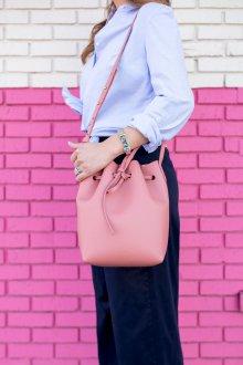 Сумка мешок розовая светлая