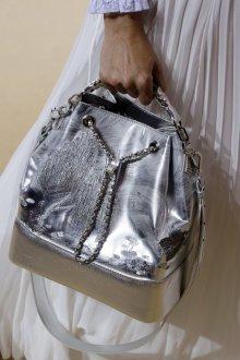 Сумка мешок серебряная