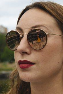 Зеркальные очки бронзовые