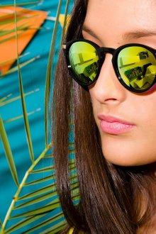 Зеркальные очки цветные