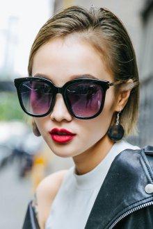 Зеркальные очки фиолетовые