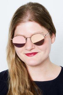 Зеркальные очки круглые с покрытием