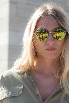 Зеркальные очки с линзами