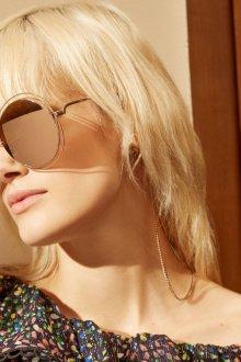 Зеркальные очки в оправе