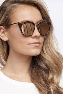 Зеркальные очки с принтом