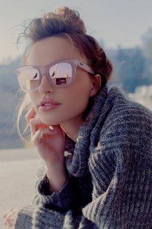 Зеркальные очки прозрачные