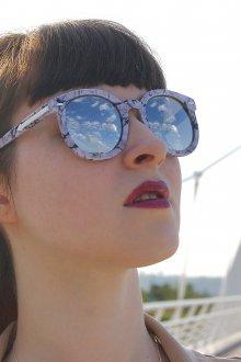 Зеркальные очки роговые