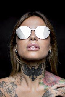 Зеркальные очки серебряные