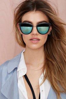 Зеркальные очки серые