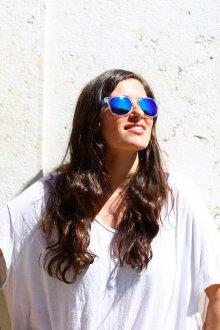 Зеркальные очки синие